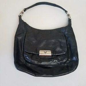 Coach Kristin Black Leather Hobo Bag Purse 19293